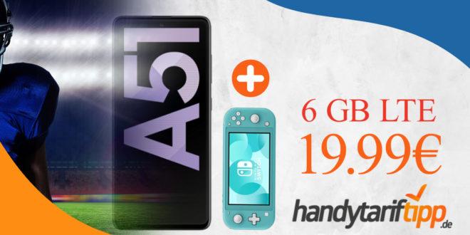 Samsung Galaxy A51 & Nintendo Switch Lite mit 6 GB LTE nur 19,99€ monatlich