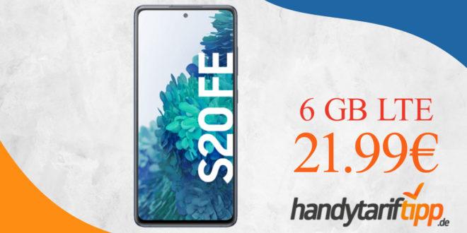Samsung Galaxy S20 FE 128GB mit 6 GB LTE im Telekom Netz nur 21,99€ monatlich