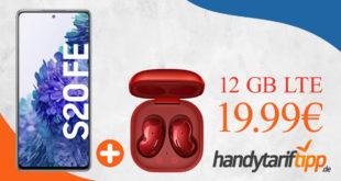 Samsung Galaxy S20 FE & Samsung Galaxy Buds Live mit 12 GB LTE nur 19,99€ monatlich