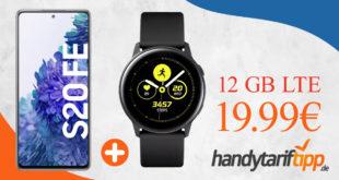 Samsung Galaxy S20 FE & Samsung Galaxy Watch Active mit 12 GB LTE nur 19,99€ monatlich