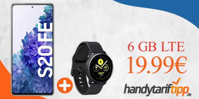 Samsung Galaxy S20 FE & Samsung Galaxy Watch Active mit 6 GB LTE nur 19,99€ monatlich