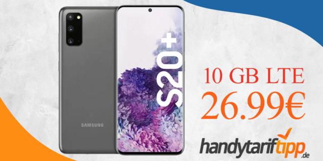 Samsung Galaxy S20+ (S20 Plus) mit 10 GB LTE im Telekom Netz nur 26,99€ monatlich