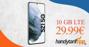 Samsung Galaxy S21 5G mit 10 GB LTE im Telekom Netz nur 29,99€ monatlich
