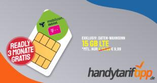 Telekom Datentarif mit 15 GB LTE nur 9,99€ monatlich