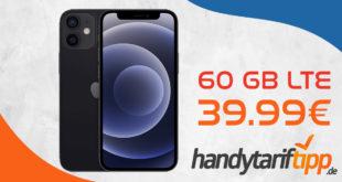 Apple iPhone 12 Mini mit 60 GB LTE5G nur 39,99€ monatlich