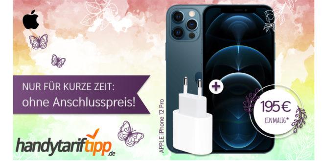Apple iPhone 12 Pro für einmalig 195 Euro mit 40 GB LTE5G nur 44,99 Euro monatlich