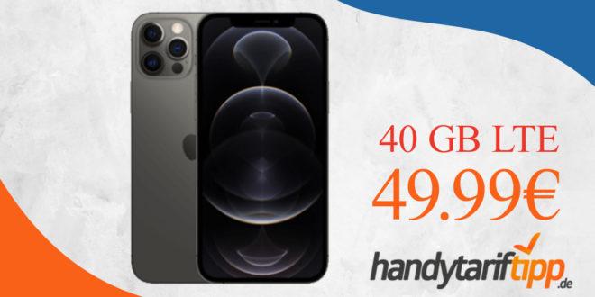 Apple iPhone 12 Pro mit 40 GB LTE für 49,99€ monatlich