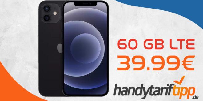 Apple iPhone 12 mit 60 GB LTE nur 39,99€ monatlich