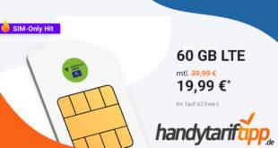 Internet-Flat mit 60 GB LTE bis zu 225 Mbit/s nur 19,99€ monatlich