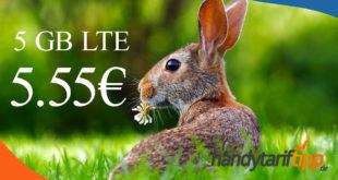 KEIN Aprilscherz - 5 GB LTE & Allnet für nur 5,55€ monatlich - auch ohne Vertragslaufzeit bestellbar