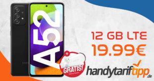 Samsung Galaxy A52 & Samsung Galaxy Buds Plus mit 12 GB LTE nur 19,99€ monatlich