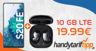 Samsung Galaxy S20 FE & Samsung Galaxy Buds Live mit 10GB LTE nur 19,99€ monatlich