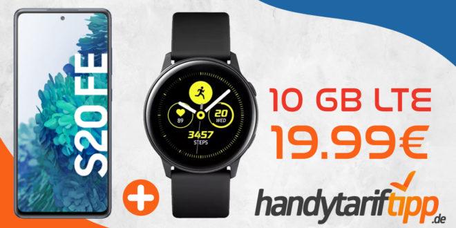 Samsung Galaxy S20 FE & Samsung Galaxy Watch Active mit 10 GB LTE nur 19,99€ monatlich