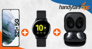 Samsung Galaxy S21+ 5G (S21Plus) & Samsung Galaxy Watch Active2 & Samsung Galaxy Buds Live mit unlimited LTE für 49,99€ monatlich