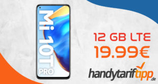 Xiaomi Mi 10T Pro 5G mit 12 GB LTE nur 19,99€ monatlich