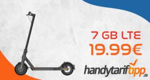 Xiaomi Mi Electric Scooter 1S mit Handyvertrag - 7 GB LTE für 19,99€ monatlich