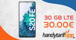 30 GB LTE für 30€ monatlich - Samsung Galaxy S20 FE für nur 1 Euro Zuzahlung
