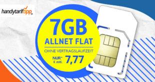 7 GB Allnet Flat für nur 7,77 EURMonat