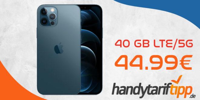 Apple iPhone 12 Pro 128 GB mit 40 GB LTE5G für nur 44,99€ monatlich