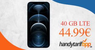 Apple iPhone 12 Pro mit 40 GB LTE 5G nur 44,99€ monatlich