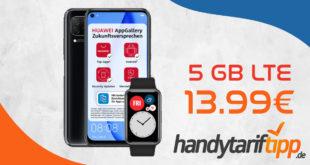 Huawei P40 lite & Huawei Watch Fit gratis mit 5 GB LTE nur 13,99€ monatlich