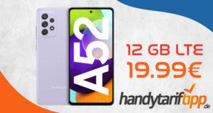 Samsung Galaxy A52 mit 12 GB LTE nur 19,99€ monatlich