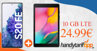Samsung Galaxy S20 FE & Samsung Galaxy Tab A 8.0 mit 10 GB LTE im Telekom Netz nur 24,99€ monatlich