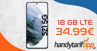 Samsung Galaxy S21 5G mit 18 GB LTE im Telekom Netz nur 34,99€ monatlich