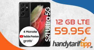 Samsung Galaxy S21 Ultra 5G mit Telekom Magenta Mobil M (12 GB LTE5G) & 120€ Cashback für monatlich 59,95 Euro