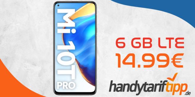 Xiaomi Mi 10T Pro 5G mit 6 GB LTE nur 14,99€ monatlich