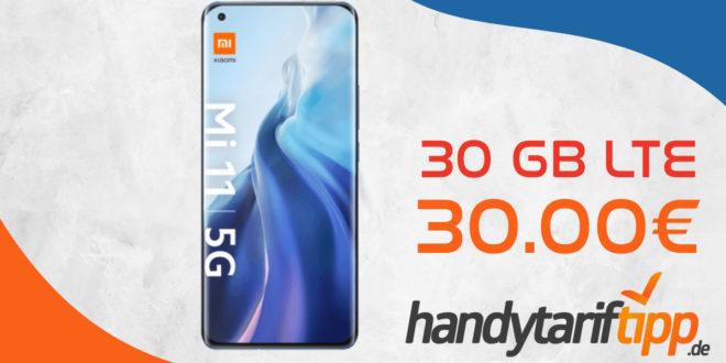 Xiaomi Mi 11 5G mit 30 GB LTE nur 30€ monatlich
