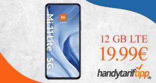 Xiaomi Mi 11 Lite 5G mit 12 GB LTE nur 19,99€ monatlich