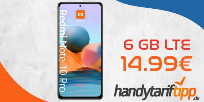 Xiaomi Redmi Note 10 Pro mit 6 GB LTE nur 14,99€ monatlich