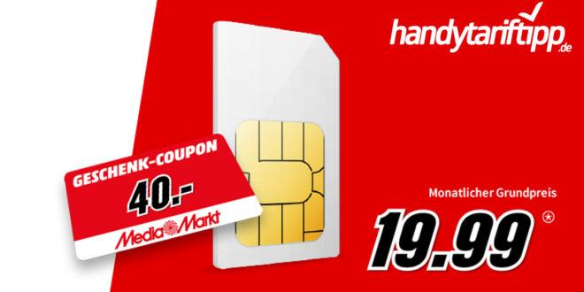26 GB LTE Allnet Flat im Telekom Netz nur 19,99€ monatlich und dazu 40 Euro Coupon