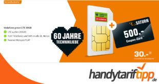 30 GB LTE Allnet Flat nur 30€ monatlich und dazu 500 Euro Coupon