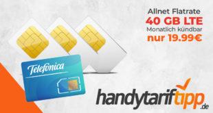 40 GB LTE Allnet FLAT monatlich kündbar nur 19,99€ monatlich