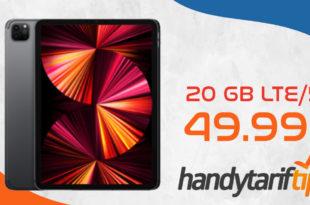 Apple iPad Pro 11 Zoll 5G (3.Gen) mit Vertrag O2 my Data M mit 20 GB LTE 5G nur 49,99€ monatlich