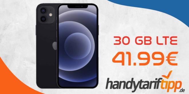 Apple iPhone 12 mit 30 GB LTE für 41,99€ monatlich - Zuzahlung nur 49 Euro