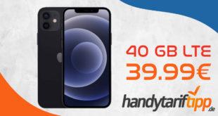 Apple iPhone 12 mit 40 GB LTE nur 39,99€ monatlich - einmalige Zuzahlung nur 49 Euro
