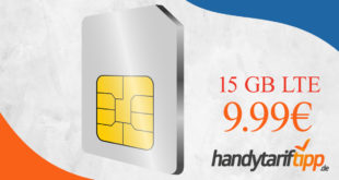 Datentarif im Telekom Netz - 15 GB LTE nur 9,99 Euro monatlich