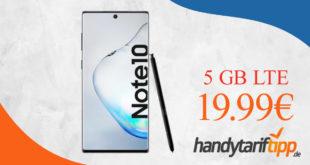Samsung Galaxy Note10 mit 5 GB LTE nur 19,99€ monatlich