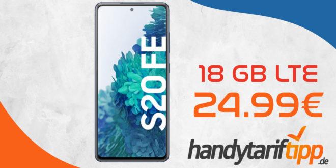 Samsung Galaxy S20 FE mit 18 GB LTE nur 24,99 Euro monatlich