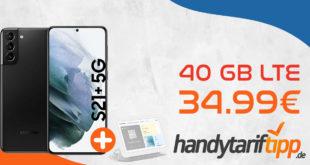 Samsung Galaxy S21+ 5G (S21Plus) & Google Nest Hub mit 40 GB LTE nur 34,99€ monatlich - Junge Leute (unter 28 ) erhalten 120 GB LTE monatlich
