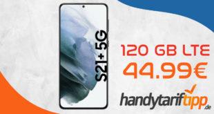 Samsung Galaxy S21+ 5G (S21Plus) mit 120 GB LTE für 44,99€ monatlich
