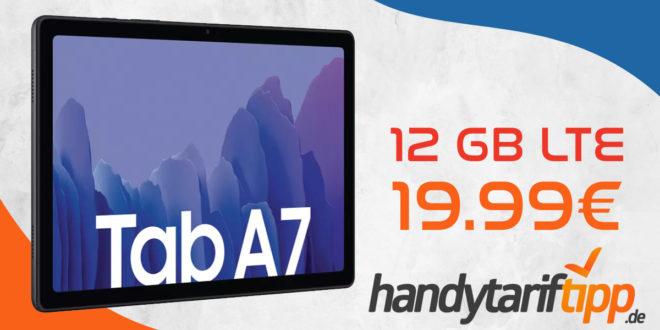Samsung Galaxy Tab A7 mit 12 GB LTE nur 19,99€ monatlich