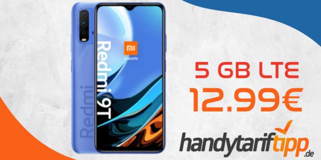 Xiaomi Redmi 9T 5G mit 5 GB LTE nur 12,99€ monatlich