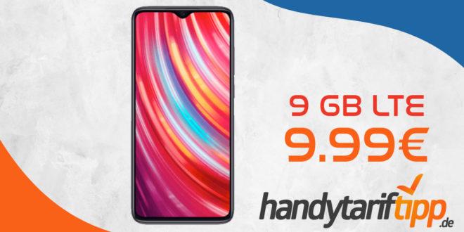 Xiaomi Redmi Note 8 Pro mit 9 GB LTE nur 9,99€ monatlich