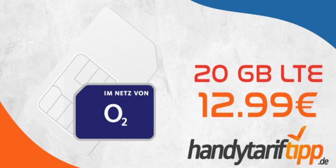 20 GB LTE mit bis zu 225 Mbits im Download nur 12,99€ monatlich