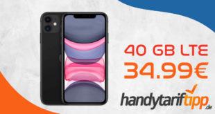 Apple iPhone 11 mit 40 GB LTE für 34,99€ monatlich - nur 1 Euro Zuzahlung