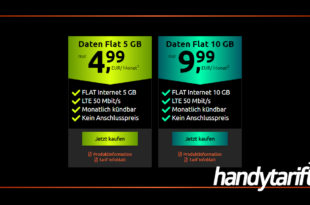 Daten Flat 10 GB LTE im Vodafone Netz und Monatlich kündbar nur 9,99€ monatlich - Kein Anschlusspreis